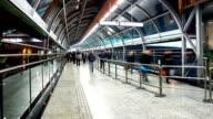HD Time-lapse: Pedestrian Crowd at Chongqing metro station, China video