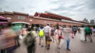 4K Time-Lapse: Pedestrian Crowd at Tamsui Taipei, Taiwan video