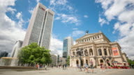 4K Time-lapse: Pedestrian Crowded at Frankfurt Alte Oper Opera Germany video