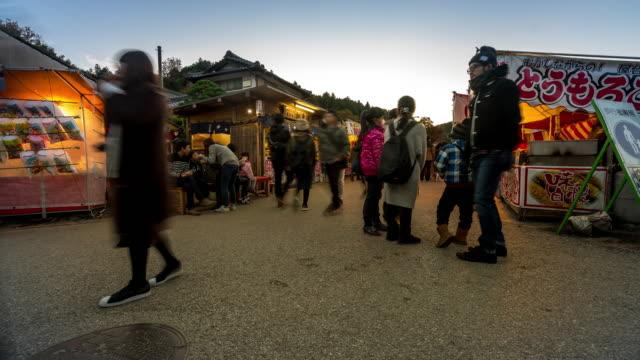 Time-lapse: Pedestrian crowded at korankei flea market Autumn Nagoya Japan video
