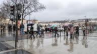 4K Time-lapse: Pedestrian crowded at Lyon Place Bellecour France video