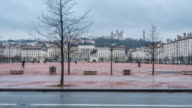 Time-lapse: Pedestrian crowded at Lyon Place Bellecour France video