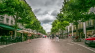 4K Time-lapse: Pedestrian Crowded at Opera street Frankfurt Germany video