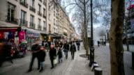 HD time-lapse: Pedestrian Crowded at Pompidou Square Paris video