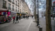 4K time-lapse: Pedestrian Crowded at Pompidou Square Paris video
