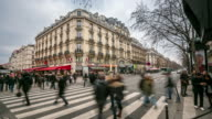 Time-lapse: Pedestrian Crowded at Pompidou Square Paris video