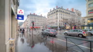 Time-lapse: Pedestrian Crowded at Republique shopping street Lyon France video