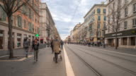 Time-lapse: Pedestrian crowded at shopping street Nice France video