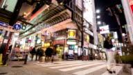 HD Time-lapse: Pedestrians at Dotonbori Osaka video