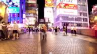 HD Time-lapse : Pedestrians at Ebisu bridge in Dotonbori Osaka Japan. video