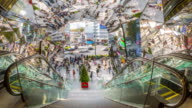 4K Time-lapse: Pedestrians at Harajuku Shopping mall Tokyo video