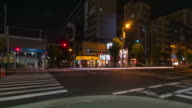 HD Time-lapse: Pedestrians at Osaka at night video