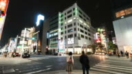 HD Time-lapse: Pedestrians cross at Ginza City video
