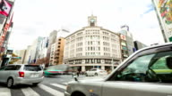 HD Time-lapse: Pedestrians cross at Ginza Crossing video