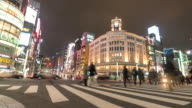 Time-lapse: Pedestrians cross at Ginza Crossing video