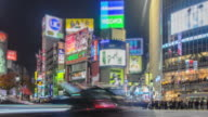 4K Time-lapse: Pedestrians cross at Shibuya Crossing video