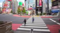 4K Time-lapse: Pedestrians crossing crowded at Shinjuku Tokyo video