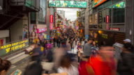4K Time-lapse: Pedestrians crowded at Harajuku Tokyo video