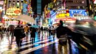 HD Time-lapse: Pedestrians crowded at Kabuki-cho Shinjuku Tokyo night video