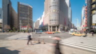 Time-lapse: Pedestrians crowded at Nihombashi district Tokyo video