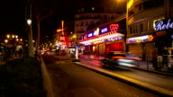 HD Timelapse: Pedestrians Crowded at Red Light Districts in Paris video