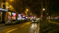 4K Timelapse: Pedestrians Crowded at Red Light Districts in Paris video