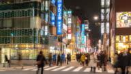Time-lapse: Pedestrians crowded at Shimbashi hangout district Tokyo Japan video