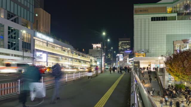 4K Time-lapse: Pedestrians crowded at Shinjuku station Tokyo , Japan . video