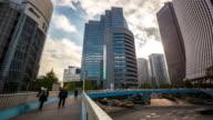 4K Time-lapse: Pedestrians crowded at Shinjuku Tokyo video
