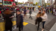 4K Time-lapse: Pedestrians crowded crossing at Harajuku Tokyo video