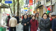 time-lapse people crowded at Insadong Market,Seoul City video