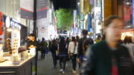 Time-Lapse people crowded at Myeongdong Steet Market,Seoul City video