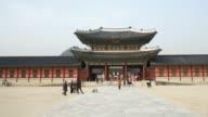 time-lapse - people crowded Gyeongbokgung Palace,Korea video