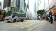 time-lapse people crowded in Hong Kong city video