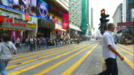 Timelapse - people crowded in Hong Kong video