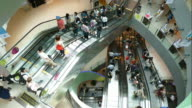 time-lapse people in shopping mall video