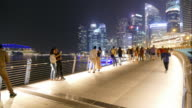 time-lapse people in singapore city video
