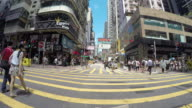 4K Time-lapse : People shopping place in Hong Kong video