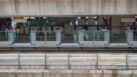 Timelapse :people waiting for train at Metro station video