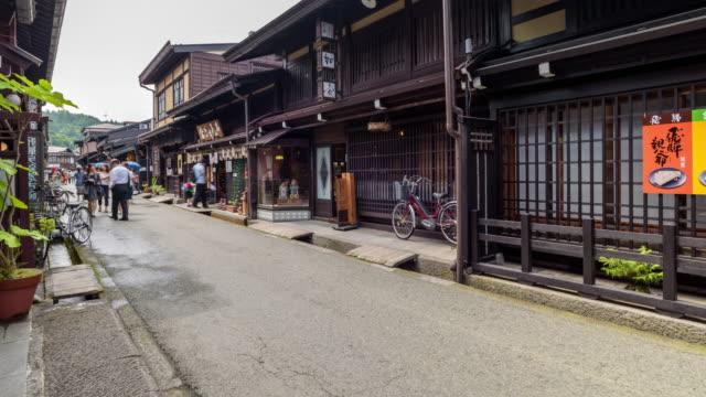 4K Timelapse: People walking around Old house at Takayama historical town in Japan video