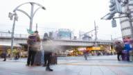 4K Timelapse: People were crossing the road. video