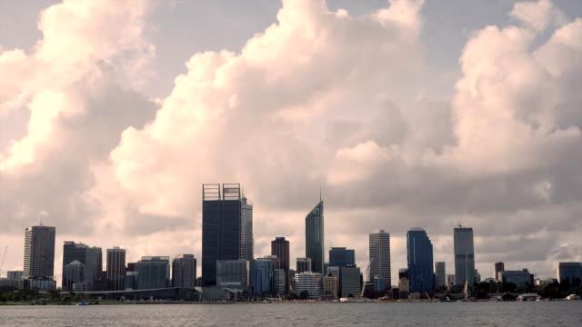 Timelapse Perth Skyline daytime video