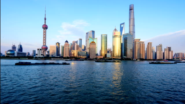 Time-lapse photography in Shanghai,lujiazui video