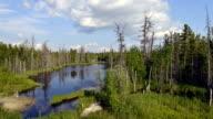 time-lapse photography of beautiful nature Russia on the Yamal Peninsula video