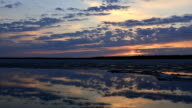 Time-lapse photography of sunset in Siberia on the Yamal Peninsula video
