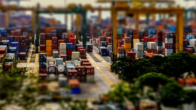 Time-lapse Port Terminal Day video