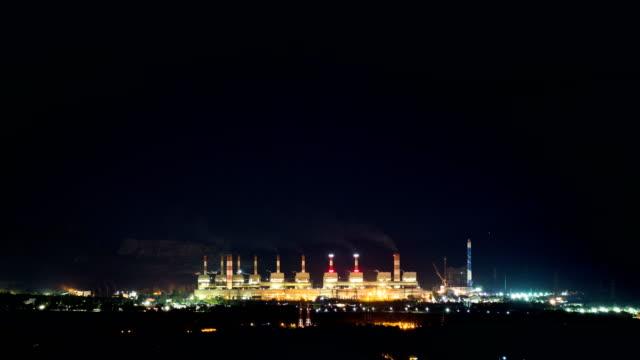 Timelapse power plant video