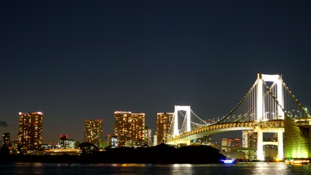 Timelapse : Rainbow Bridge in Tokyo Japan video