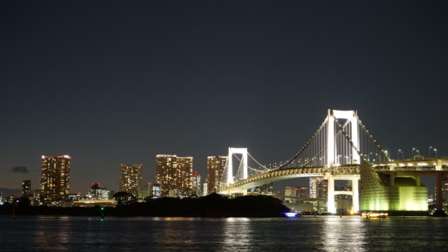 Timelapse : Rainbow Bridge in Tokyo Japan video