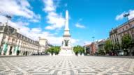 HD Time-lapse: Restauradores Square Lisbon Portugal video